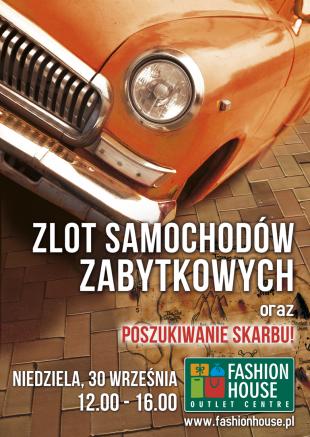 Zlot Samochodów Zabytkowych - plakat